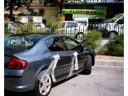 Arreflo floral coche