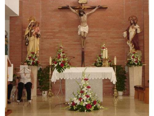 Flores para el altar