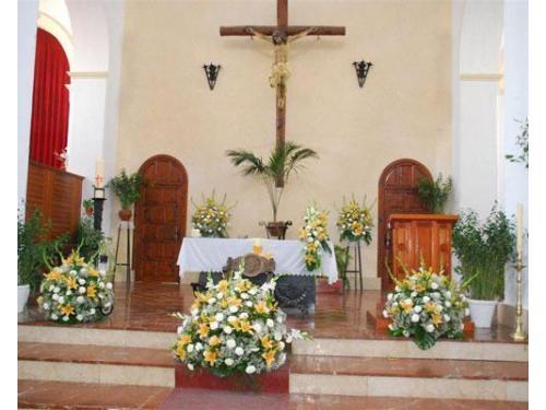 Flores para la iglesia