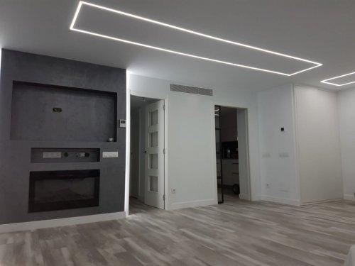 Iluminacion con tiras de led en perfiles de aluminio empotrables Gracias Juanma