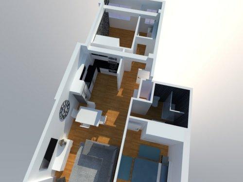 proyecto 3D casa Pontevedra