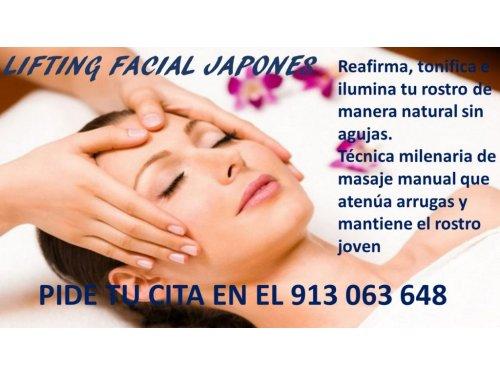 Masaje facial efecto Linfting manual Japonés