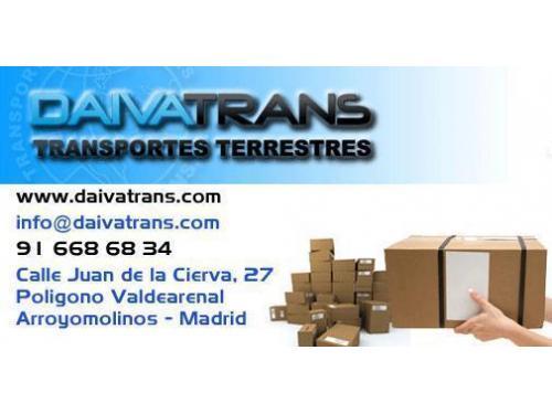 daivatrans, transportes terrestres, alquiler furgoneta con conductor, arroyomolinos