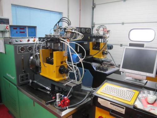 Banco de pruebas de sistemas inyectores bomba