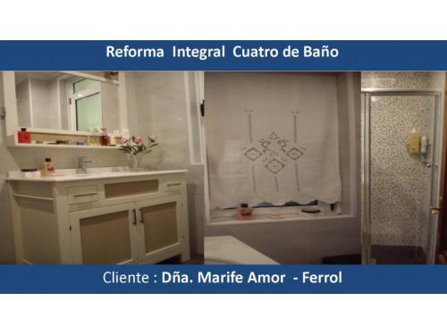 Reforma baño Dña Mari Fé