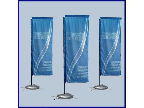 Comprar Fly banners rectangulares, precios