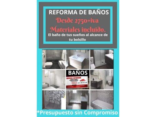 Reforma integral de baños en asturias -Refornalon