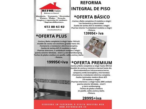 Reforma de pisos en Oviedo, Gijón, Avilés, Mieres, Langreo, San Martín del Rey Aurelio