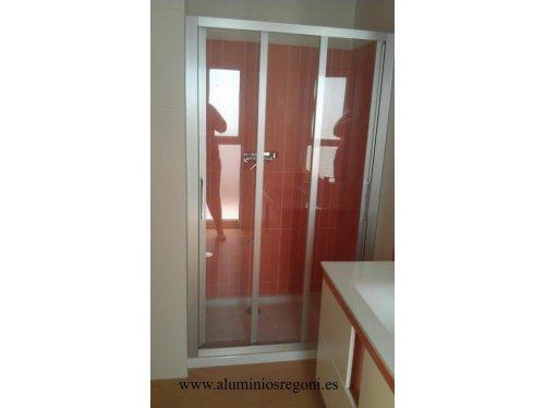 Mampara de ducha de aluminio color plata