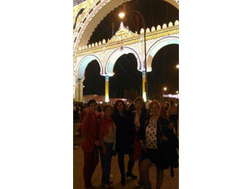 Feria de Abril en Sevilla 2018 con algunas alumnas
