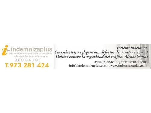 Abogado Indemnizaplus LLeida (Red abogados especialistas en indemnización por accidentes en toda España)