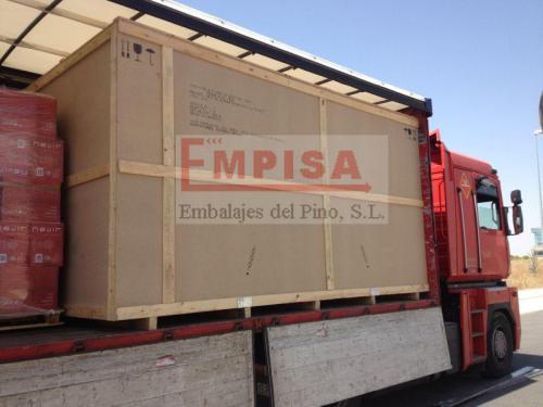 Embalajes aglomerado envío aéreo