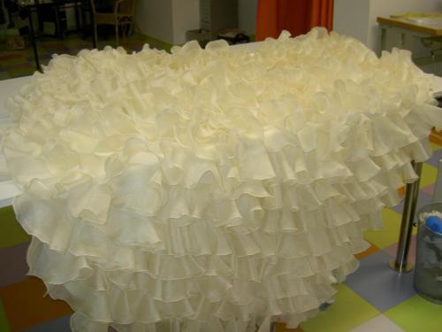 Volantes para traje de novia