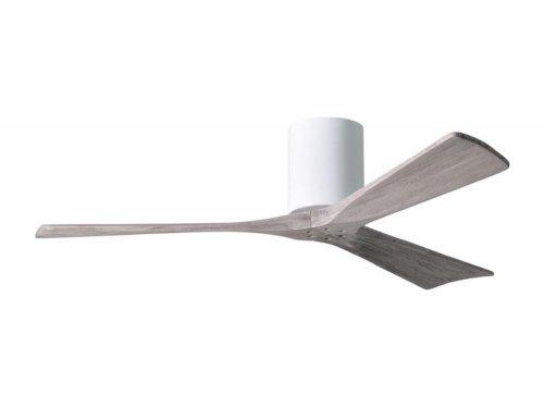 CASA BRUNO Irene Hugger DC-ventilador de techo Ø 132 cm, blanco, 3 aspas de madera de color barn wood