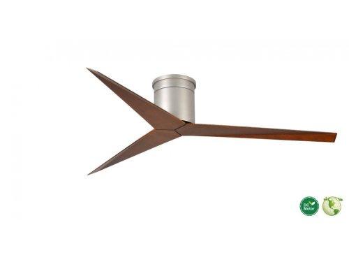 CASA BRUNO Eliza Hugger ventilador de techo Ø 142 cm, niquel satinado / nogal