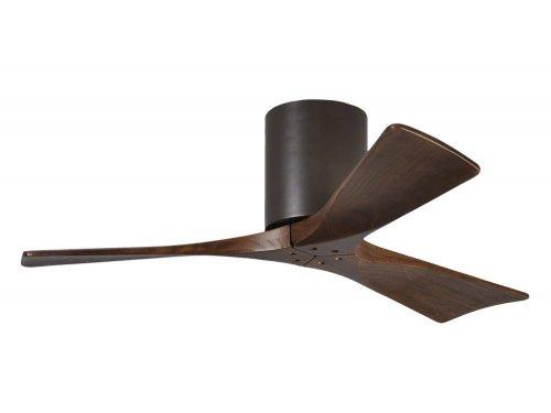 CASA BRUNO Irene Hugger DC-ventilador de techo Ø 107 cm, bronce oscuro, 3 aspas de madera
