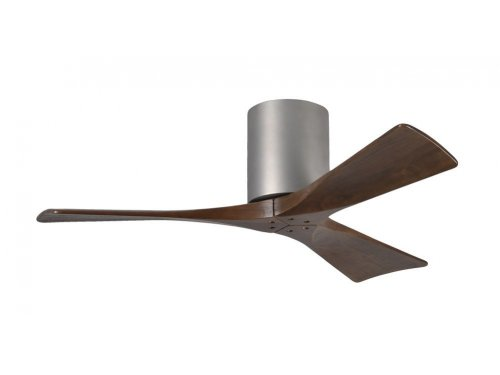 CASA BRUNO Irene Hugger DC-ventilador de techo Ø 107 cm, niquel satinado, 3 aspas de madera