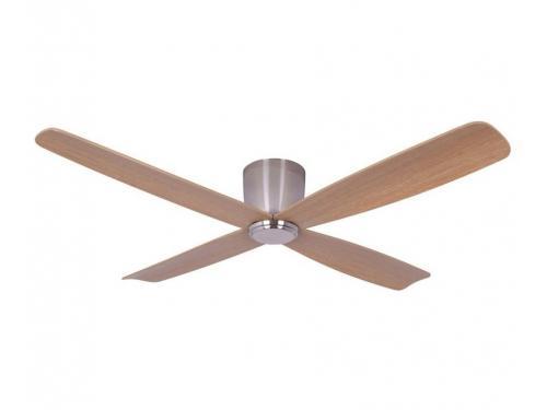 CASA BRUNO Fraser Hugger DC-ventilador de techo Ø 132 cm, cromo cepillado, para techos bajos