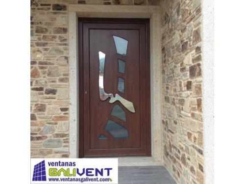 puertas de entrada casa piedra Santiago de Compostela