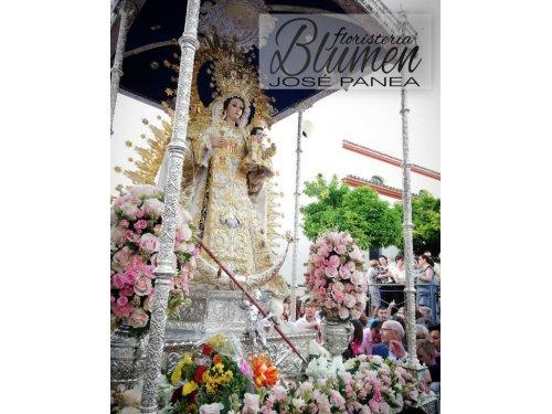 Exorno floral del paso de la Virgen (Corpus 2019)