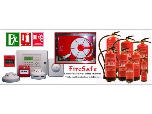 Venta, mantenimiento e instalaciones material contra incendio