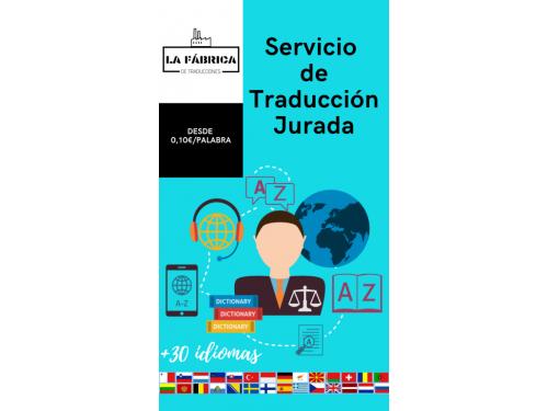 Servicio de traducción jurada