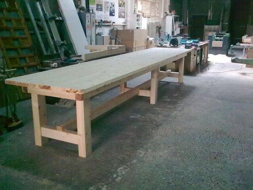 mesa madera maciza de 5 mtrs en pino