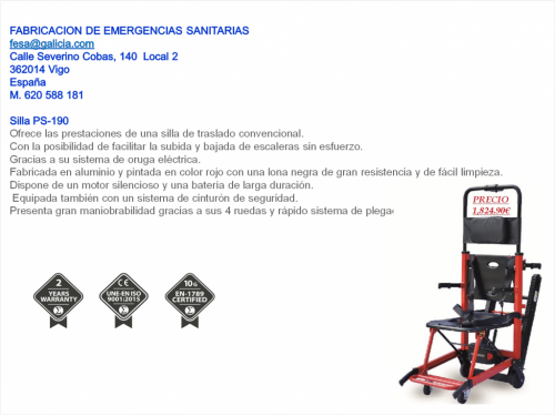 Ficha Silla Oruga Eléctrica