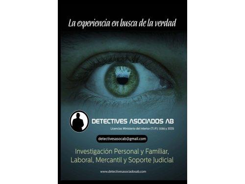 Detectives Asociados AB es una agencia de detectives privados, centrada tanto en el asesoramiento como en la realización de investigaciones, para empresas y particulares, disponiendo de un equipo de personal altamente cualificado y con amplia experiencia